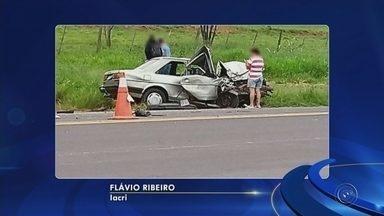 Região de Marília registra cinco acidentes em 24 horas - Pelo menos 10 pessoas ficaram feridas em cinco acidentes na região de Marília no período de 24 horas. Dois deles foram provocados por motoristas embriagados.