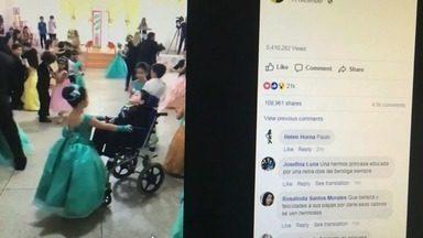 Criança escolhe irmão cadeirante como par de valsa na festa do ABC - Confira outras notícias em G1.globo.com/ce