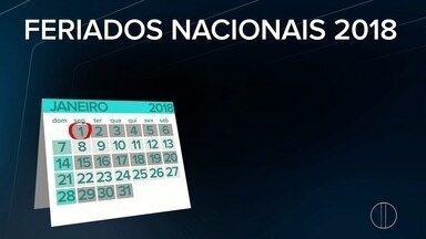 Ministério do Planejamento divulga feriados e pontos facultativos para 2018; confira - Assista a seguir.