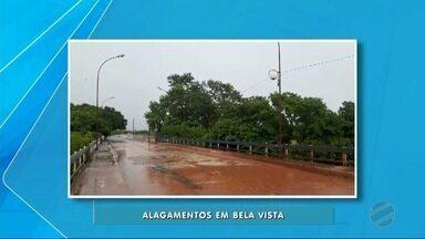 Chuva está castigando moradores de Bela Vista, MS - De acordo com a meteorologia, choveu 154 milímetros no município, 85% do esperado para o mês de dezembro, que tem a média histórica de 181 milímetros.