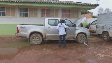 Um carro roubado em Porto Velho foi recuperado na região de fronteira - Leile Ribeiro.