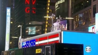 Times Square, em Nova York, deve receber dois milhões de pessoas na virada do ano - Este é um dos destinos mais procurados por turistas do mundo inteiro.