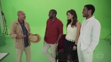 Lazinho pede uma música que o tema fale sobre o tempo - Confira o videoclipe da música