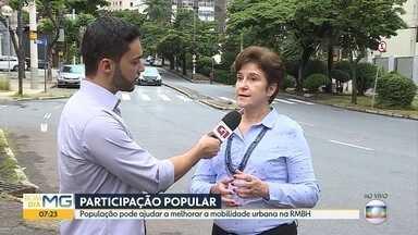 Governo de MG abre consulta pública para população ajudar a elaborar plano de mobilidade - Consulta pede opiniões para o trânsito na Região Metropolitana de Belo Horizonte.