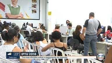 Guias de IPTU começam a ser entregues em Belo Horizonte - Estimativa da prefeitura é arrecadar R$ 1,4 bilhão com o imposto. O pagamento pode ser à vista, com desconto ou parcelado.