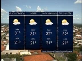 Áreas de instabilidade deixam o tempo chuvoso na região de Presidente Prudente - Confira como ficam as temperaturas nesta quinta-feira (4).