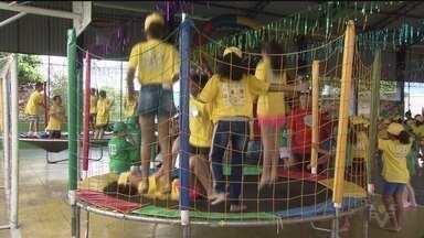 Sede do Jepom traz diversão para crianças em São Vicente - O projeto tem diversas atividades para diferentes faixas etárias.