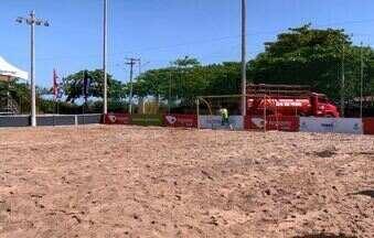 Arena de verão é montada em Aracruz, no Norte do ES - Nesta sábado (6), a programação começa às 7h da manhã.