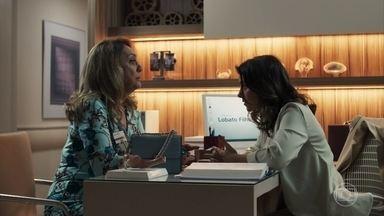 Nádia conta para Tônia seu plano para reaproximá-la de Bruno - Suzy exalta qualidades de Samuel para Renato