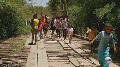Moradores temem situação precária de ponte em Rio Claro, SP - Prefeitura diz que tenta recursos com o governo estadual para reforma.