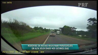 Motorista não obedece ordem de parada e policiais perseguem veículo pela BR-277 - Foi cerca de 10 km em alta velocidade.