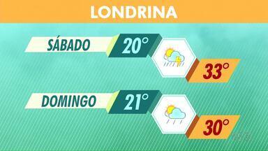 Tempo segue instável no Paraná - Tem previsão de chuva para o fim de semana.