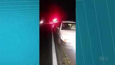Acidente na BR 277 deixa uma pessoa ferida - Colisão entre um carro e um caminhão em Prudentópolis deixou uma pessoa ferida