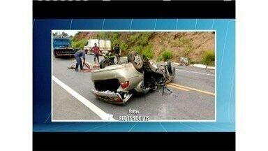 Corpos de vítimas de acidente na BR 381, próximo à Governador Valadares, são identificados - Acidente foi perto do anel rodoviário da cidade.