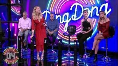 Ana Claudia Michels, Talytha Pugliesi e Daniela Cicarelli escolhem a campainha número 2 - Trio não consegue descobrir quuem é o homenageado