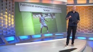 Palmeiras acerta a contratação de Gustavo Scarpa - Palmeiras acerta a contratação de Gustavo Scarpa