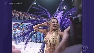 Ellen Rocche revela seu carnaval inesquecível - Atriz relembra primeira vez que desfilou como rainha de bateria, em 2007