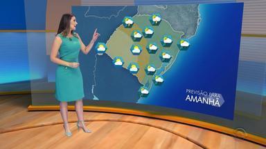 Tempo: pancadas de chuva podem atingir cidades do RS na terça-feira (15) - Assista ao vídeo.