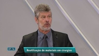 Presidente do CRM diz que é uma lástima crime de reuso de descartáveis em cirurgias no ES - Dois empresários e um enfermeiro foram presos, suspeitos de fornecer materiais cirúrgicos como se fossem novos.
