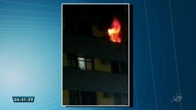 Incêndio etinge apartamento no Monte Castel, na noite desta terça-feira (16) - Saiba mais em g1.com.br/ce