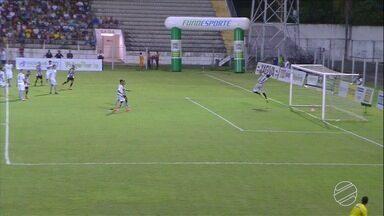 Igor Pimentel chuta forte de fora da grande área e fez o primeiro gol do estadual 2018 - Corumbaense vence o Operário Atlético no primeiro tempo por 1 a 0 no Arthur Marinho