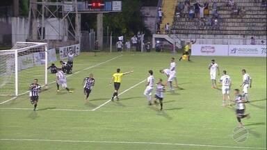Na cobrança de pênalti o goleiro defende, Guilherme no rebote, faz o 2º para o Corumbaense - Na cobrança de pênalti, o goleiro defende, Guilherme no rebote, faz o 2º para o Corumbaense