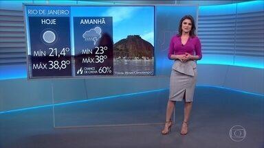 Previsão é de mais calor para o Rio e SP nesta sexta (19) - No Rio, os termômetros chegaram a marcar 42ºC em Guaratiba.
