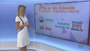 Confira o que abre e o que fecha no Dia de São Sebastião em Ribeirão Preto - Comércio tem abertura facultativa das 9h às 17h.