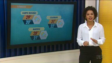 Temperatura permanece instável neste fim de semana em Maringá e região - Confira a previsão do tempo para o fim de semana.
