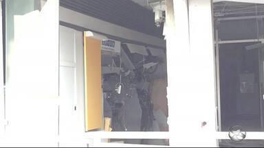 Criminosos explodem agência bancária de Alagoinha - Crime ocorreu na madrugada desta sexta-feira (19).