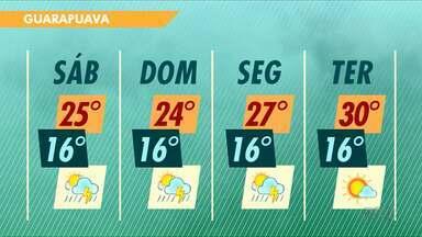 Chuvas continuam no final de semana em Guarapuava - A previsão é de pancadas durante o dia e as temperaturas não mudam muito.
