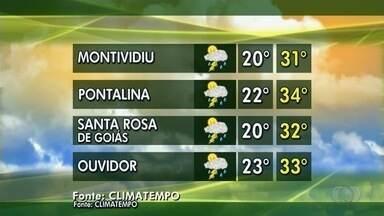 Veja a previsão do tempo para esta semana em Goiás - Época da colheita de soja se aproxima.