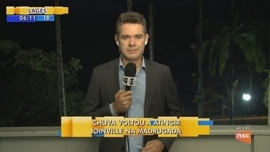 Joinville volta a ter registro de chuva durante a madrugada - Joinville volta a ter registro de chuva durante a madrugada