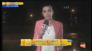 Escola é invadida cinco vezes durante as férias em Lages - Escola é invadida cinco vezes durante as férias em Lages