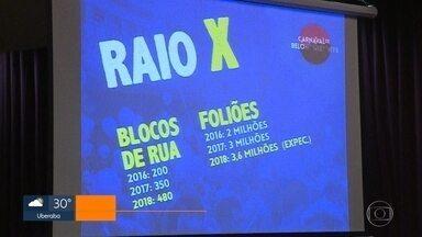 Carnaval de Belo Horizonte deve reunir 3,6 milhões de foliões neste ano - O número representa 20% de crescimento em relação ao número de pessoas nas ruas da capital em 2017 durante os quatro dias de festa. Ao todo, 480 blocos vão desfilar na cidade.