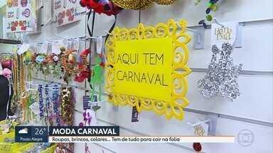 Comerciantes focam em produtos e fantasias para faturarem com o carnaval de Belo Horizonte - A folia mexe com a cidade e com o comércio, que comemora a diversificação de negócios.