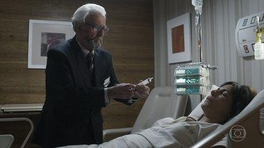 Natanael afirma que vai matar Elizabeth - Internada no hospital, ela fica horrorizada ao ver o sogro