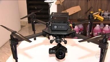 Drones levam drogas e armas para presídios do MS - Só este mês, a polícia apreendeu dois aparelhos na penitenciária de Dourados