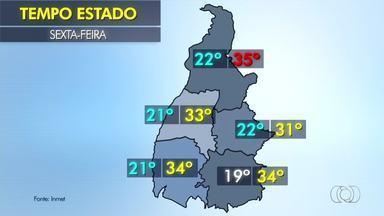 Confira a previsão do tempo para o Tocantins nesta sexta-feira (26) - Confira a previsão do tempo para o Tocantins nesta sexta-feira (26)