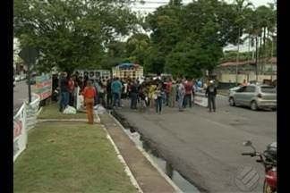 Violência contra policiais foi motivo de protesto em Belém - Só no início deste ano, cinco Pm's foram assassinados.
