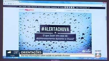 Secretaria de Saúde de Minas Gerais lança site para com orientações para o período chuvoso - A meteorologia prevê muita chuva no estado no fim deste mês.