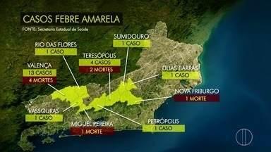 Sumidouro registra caso de febre amarela e sobe para 25 os números confirmados no Estado - Sumidouro teve caso confirmado nesta quinta-feira (25).
