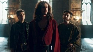 Rodolfo engana Petrônio e Orlando - Rodolfo diz que não quer mais ser rei e os dois caem. Rodolfo quer organizar uma nova expedição para achar água e procura Baltazar