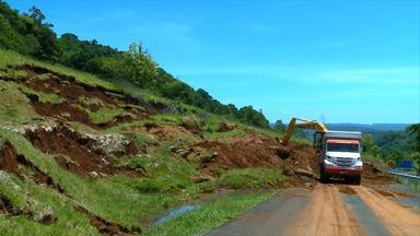Seguem as obras na ERS-575, no acesso ao município de Porto Vera Cruz, RS - DAER afirma que a obra deve ser entregue em abril deste ano.