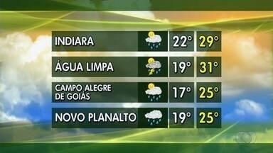 Veja a previsão do tempo para esta semana - Indiara, Água Limpa, Campo Alegre de Goiás e Novo Planalto têm previsão de chuva nos primeiros dias do mês.