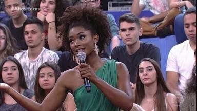 Érika Januza fala do início da carreira - Ela revela que não planejava ser atriz e relembra primeira participação no programa