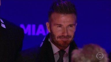 David Beckham lança projeto de colocar um clube de futebol na Major League Soccer - David Beckham lança projeto de colocar um clube de futebol na Major League Soccer.