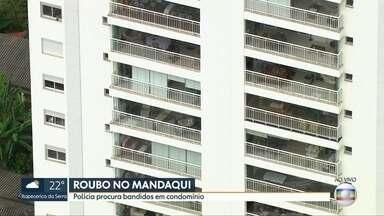 Assaltantes invadem condomínio na zona norte de São Paulo - Pelo menos 8 homens estão dentro do prédio na avenida do Guacá, no Mandaqui. Polícia cerca o local e ninguém pode entrar ou sair do condomínio.