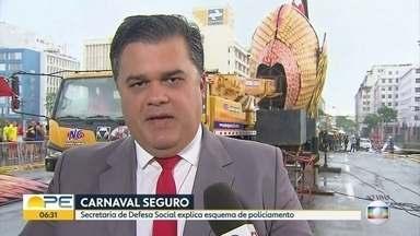 Autoridades falam sobre esquema de segurança para o carnaval 2018 - Secretário de Defesa Social e chefes das Polícias Civil e Militar abordaram a estrutura da segurança