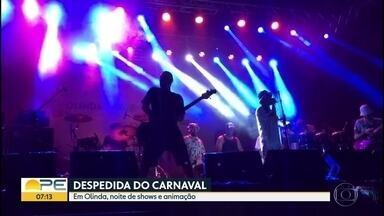 Olinda se despediu do carnaval com show de Nação Zumbi em Rio Doce - Lamento Negro, Ganga Barreto e Mundo Livre também se apresentaram no Polo Chico Science, na noite da quarta-feira de cinzas.